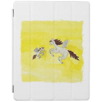 Capa Smart Para iPad Desenho criançola da aguarela com cavalos voados