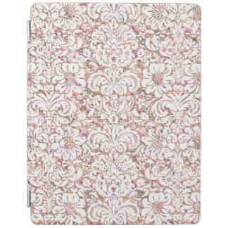 Capa Smart Para iPad Design floral branco cor-de-rosa bonito do vintage
