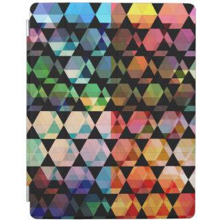 Capa Smart Para iPad Design gráfico do hexágono abstrato