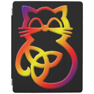 Capa Smart Para iPad Do iPad celta do gato do nó da trindade do