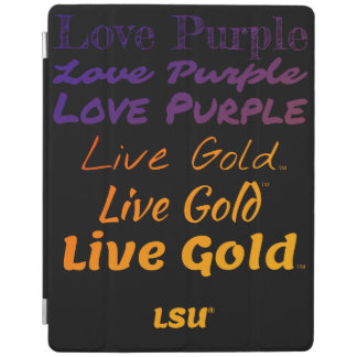 Capa Smart Para iPad Do iPad vivo do ouro do roxo do amor de LSU cobrir