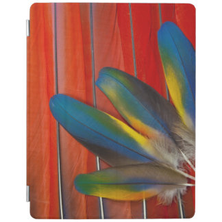 Capa Smart Para iPad Do Macaw escarlate do design da pena