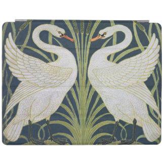 Capa Smart Para iPad Dois pássaros de Nouveau do vintage das cisnes