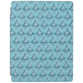 Capa Smart Para iPad Escalas azuis da sereia, boho, hippie, boémio