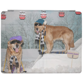 Capa Smart Para iPad Esqui do golden retriever