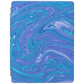 Capa Smart Para iPad Estilo de mármore lindo - azul vívido