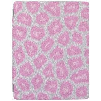 Capa Smart Para iPad Estilo do leopardo de neve - rosa de prata
