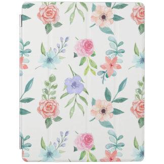 Capa Smart Para iPad Estilo Pastel animador da aguarela floral