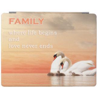 Capa Smart Para iPad Família da cisne
