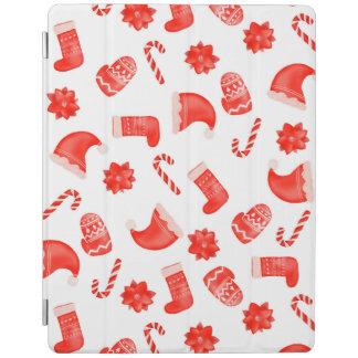 Capa Smart Para iPad Feriado bonito do teste padrão do Natal vermelho
