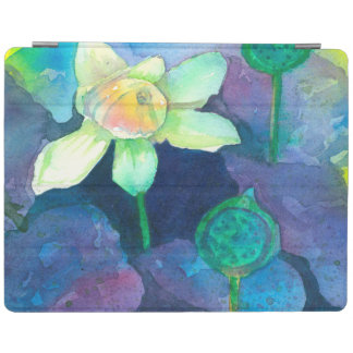 Capa Smart Para iPad Flor da lagoa da aguarela de Lotus