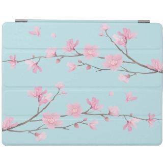 Capa Smart Para iPad Flor de cerejeira - azul-céu