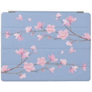 Capa Smart Para iPad Flor de cerejeira - azul da serenidade