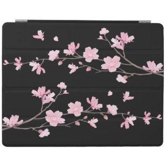 Capa Smart Para iPad Flor de cerejeira - preto