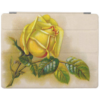 Capa Smart Para iPad Flor do Victorian do vintage do rosa amarelo