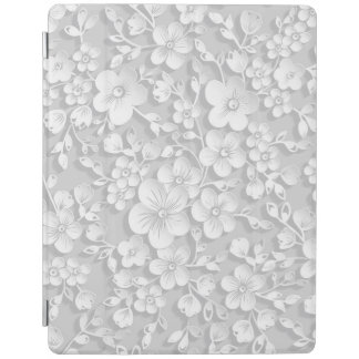 Capa Smart Para iPad Flores brancas pequenas