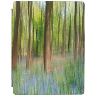 Capa Smart Para iPad Floresta BRITÂNICA do carvalho do Bluebell de