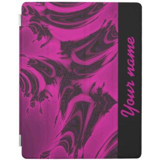 Capa Smart Para iPad Fractal cor-de-rosa e preto