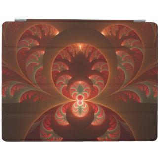 Capa Smart Para iPad Fractal moderno abstrato luminoso do vermelho