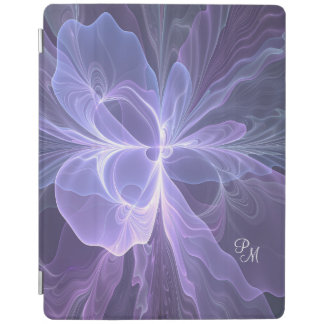 Capa Smart Para iPad Fractal moderno do abstrato do roxo do monograma