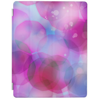 Capa Smart Para iPad Fundo das luzes do natal vintage. Rosa & azul