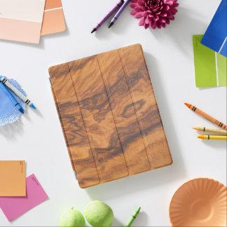 Capa Smart Para iPad Fundo de madeira No.4 do falso de Brown
