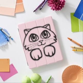 Capa Smart Para iPad Gato bonito que espreita o rosa