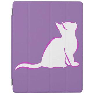 Capa Smart Para iPad Gato cor-de-rosa, suficiência branca