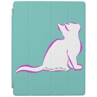 Capa Smart Para iPad Gato cor-de-rosa, suficiência branca, texto