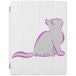 Capa Smart Para iPad Gato cor-de-rosa, suficiência cinzenta, texto