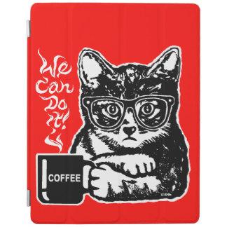 Capa Smart Para iPad Gato engraçado motivado pelo café