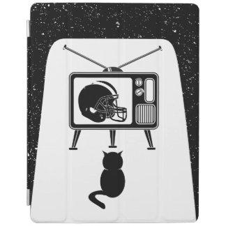 Capa Smart Para iPad Gato engraçado que olha o futebol americano