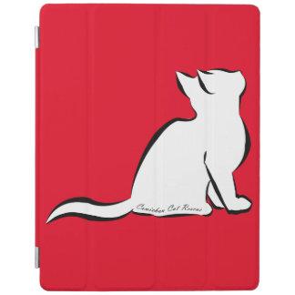 Capa Smart Para iPad Gato preto, suficiência branca, texto interno