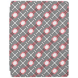 Capa Smart Para iPad Geométrico vermelho & branco preto