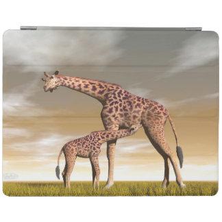 Capa Smart Para iPad Girafa da mãe e do bebê - 3D rendem
