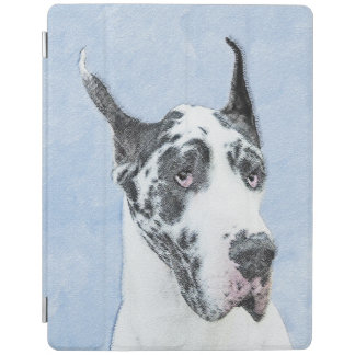 Capa Smart Para iPad Great dane (Harlequin) que pinta - arte original