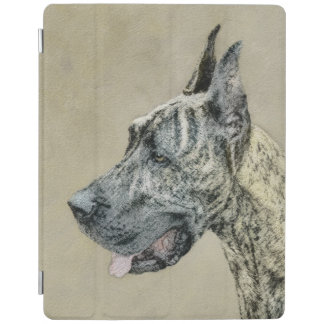 Capa Smart Para iPad Great dane (rajado) que pinta - arte original do
