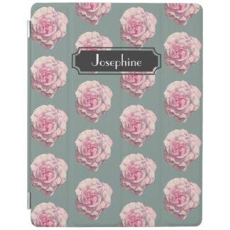 Capa Smart Para iPad Ilustração da aguarela do rosa do rosa com nome