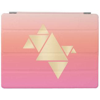 Capa Smart Para iPad Inclinação alaranjado cor-de-rosa geométrico do