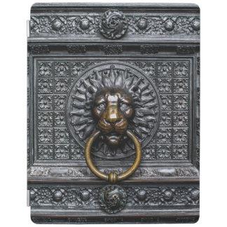 Capa Smart Para iPad Leão de Doorknocker - preto/ouro