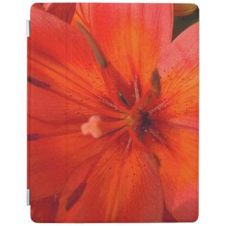 Capa Smart Para iPad Lírio alaranjado & vermelho impetuoso II