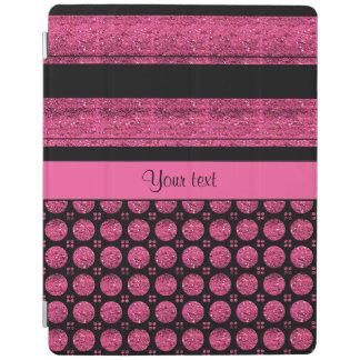 Capa Smart Para iPad Listras do rosa quente e pontos do brilho