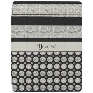 Capa Smart Para iPad Listras e pontos de prata & pretos do brilho