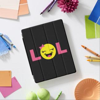 Capa Smart Para iPad LOL feminino Emoji