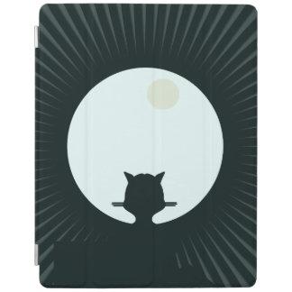 Capa Smart Para iPad Lua cheia do gato preto