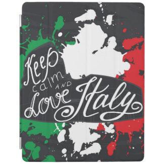 Capa Smart Para iPad Mantenha a calma e ame Italia