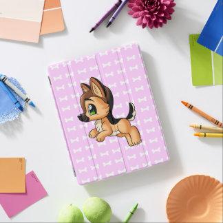 Capa Smart Para iPad Mão bonito cobrir esperto cor-de-rosa tirado do