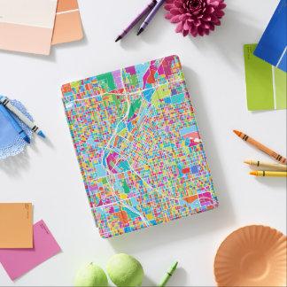 Capa Smart Para iPad Mapa colorido de Denver