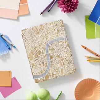 Capa Smart Para iPad Mapa dourado da cidade de Londres