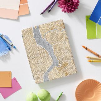 Capa Smart Para iPad Mapa dourado da cidade de New York